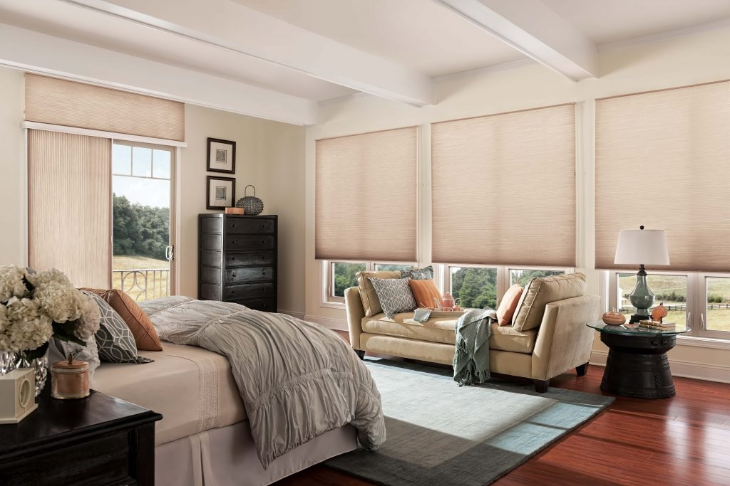 Cellular Shades with Sliding Shade