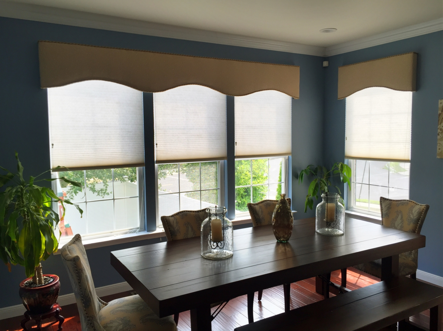 Cornices over Cellular Shades